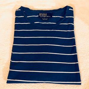 Polo Ralph Lauren Blue & White Stripe T-Shirt XXL